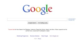 Google Tsunami Alert