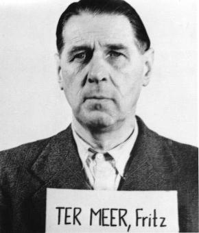 Fritz ter Meer (1884-1967) at the Nuremberg Tr...