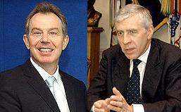 Tony Blair and Jack Straw