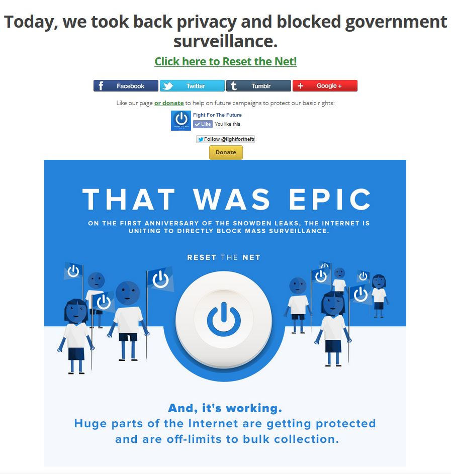 Privacy.  Today, we took it back and blocked mass government surveillance.