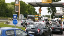 French Petrol Station Queues