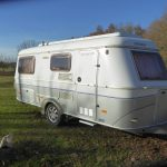 For Sale: Our Eriba Troll 555 GTV 2004.....very rare kidney shaped table and full sized rear bed.