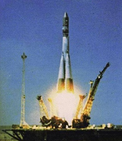 Gagarin Launch on Vostok 1
