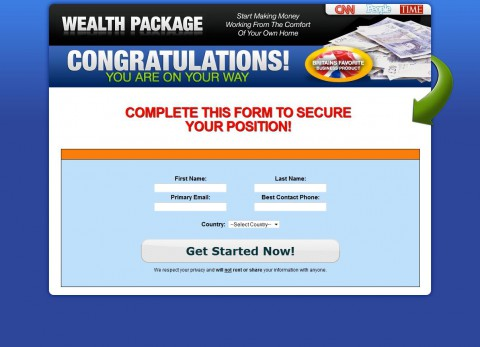 Home Wealth Package - signup start