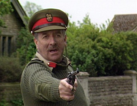 Actor Nicholas Courtney as The Brigadier