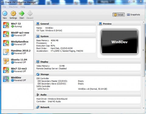 Win8 Dev VirtualBox Installation